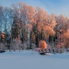 Красивый закат в поселке Трувиль