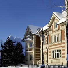 Снежная зима в поселке Трувиль